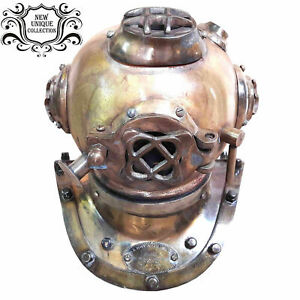 Antique Diving Divers Helmet U.S Navy Mark IV Real Vintage Collectible Look Gift