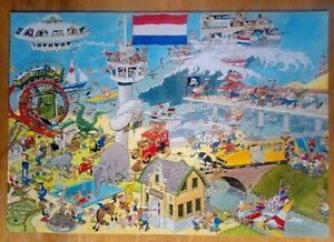 6 pc missing Jumbo Jan Van Haasteren Air, Land and Sea 2000 Piece Jigsaw Puzzle