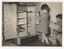 PHOTO Classe de Maternelle 1950 École Écolier Armoire Poupée Vêtement Jeu Jouet