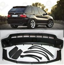 BMW X5 E53 4.8is style full BODYKIT- Front+Rear bumper spoilers+wheel arches set
