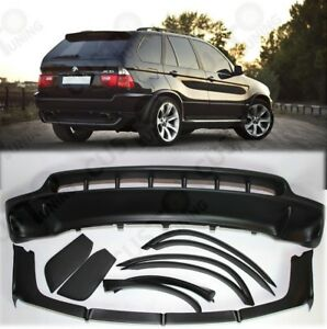 BMW X5 E53 4.8is style FRP BODYKIT- Front+Rear bumper spoilers+wheel arches set
