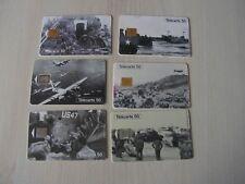 télécarte   lot de 6   debarquement 1944