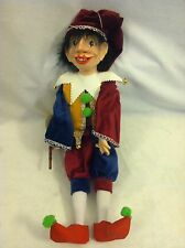 """JESTER 54 Loutka Marionette String Puppets Approx 18"""" High Hand Made In Prague"""