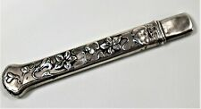 Sterling Silver Needle Case- Art Nouveau Antique.1920-Chatelaine Sewing needleca