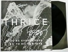 THRICE SIGNED TO BE EVERYWHERE LP VINYL RECORD ALBUM W/PROOF DUSTIN KENSURE