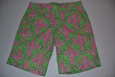 LILLY PULITZER PALM BEACH FIT GREEN PINK GIRAFFE SHORTS WOMENS SIZE 0