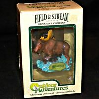 Kurt S Adler Field and Stream Outdoor Adventures Moose Christmas Ornament
