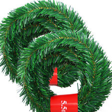 5.5m Christmas Garland Artificial Green Pine Tree String Lights Xmas Home Decor