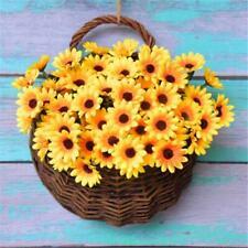 24 Head Artificial Fake Sunflower Silk Flower Bouquet Home Wedding Floral Decor