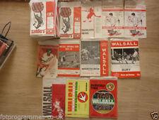 Walsall Home Team Under 18s/ 21s Football Programmes
