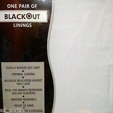 Una COPPIA BLACK OUT FODERA 46 x 70 Bianco Rivestimento Termico blocchi SUN pronto da appendere