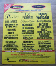 READING 2005 - Pixies Foo Fighters Iron Maiden v2 MUSIC NME ADVERT 12 X 10 in