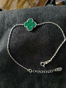 Van cleef earrings bracelet 925 sterling silver with real stone