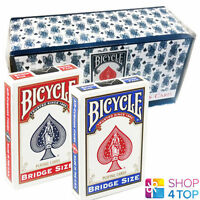 12 DECKS BICYCLE RIDER BACK BRIDGE GRÖßE 6 BLAU 6 ROT BOX CASE SPIELKARTEN NEU