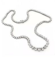 10.00 CTW GENUINE DIAMONDS GRADUATED TENNIS NECKLACE 14K WHITE GOLD UP TO 20 INC