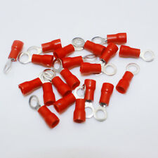 20PCS Red Ring Insulated Wire Connector AWG16-22 Electrical Crimp Terminal #AU