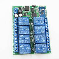 8 Channel DC12V Bluetooth Relay Android Mobile Remote control Switch Motor Light