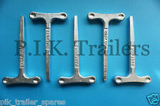 FREE P&P* 5 x Large T Key for Budget Door Locks on Trailers Horsebox Coach Bus