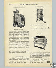 1925 PAPER AD 1900 Cataract Clothes Washing Machine Bock Centrifugal Dryer