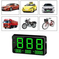 Universal Auto GPS Tachometer HUD MPH /KM/h USB Plug & Play Over SpeedWarnung