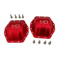 Hot Racing WRA12C02 Axial Wraith & AX10 Aluminum AR60 Diff Covers (Red)(2)