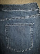 CHICO'S Size 3 Grayson M Crop Stretch Medium Blue Denim Jeans Womens