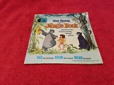 """The Jungle Book 1967 Disney Book & Record 7"""" LP 33 1/3  Long Playing Record 319"""