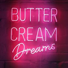 "Butter Cream Dreams Neon Sign Light Acrylic 20""x17"" Bedroom Bar With Dimmer"