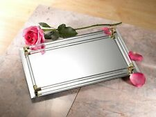"""Mirrored Serving Tray Size  Large,12"""" x 16"""", Gold"""