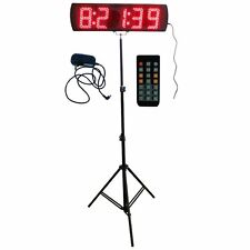 "Red Color Portable 5"" 5 Digits LED Race Timing Clock For Running Events"
