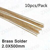 Brass Alloy Welding Rod, Brass Solder Round 2.0mmX500mm 10pcs/pack