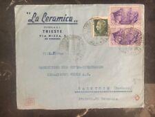 1941 Triest Italy Commercial Censored Cover to Rakovnik Czech Republic