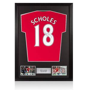 Framed Paul Scholes Signed Manchester United Shirt 2019/20 - Number 18