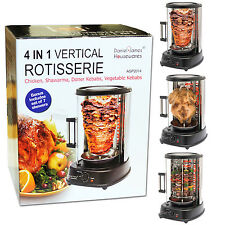 Chicken Rotisserie Vertical Rotating Grill Roaster Meat Doner Kebab Skewers Veg