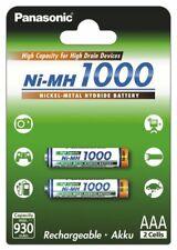 Lot Of 2 Battery Accumulator AAA Rechargeable Panasonic 1000 MAH