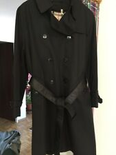 BURBERRY Coat Trench Mantel ANNISE 14R US black Zip Wool Lining NEW NEU 42 44
