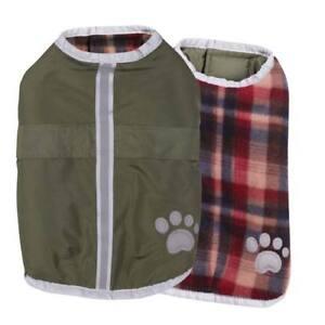 Dog Blanket Coats Reversible Waterproof Reflective Jacket - Choose Color & Size
