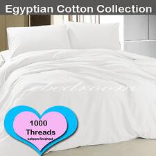 NEW 1000 thread count Egypt Cotton Pillowcase Sheet Sets All King-Single White