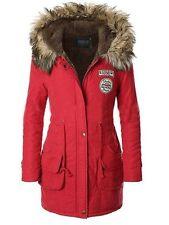 iLoveSIA Womens Hooded Warm Coat Parka Slim Winter Jacket Red XXL Army
