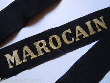 MAROCAIN  Marine - Ruban légendé authentique cap tally Bachi bonnet France  navy