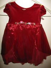 euc Amanda Rose Formal Red Velvet Holiday Tulle Formal Church Wedding Dress 18 m