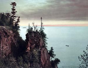 """1898 Pulpit Rock, Presque Isle Park, MI Vintage/ Old Photo 8.5"""" x 11"""" Reprint"""