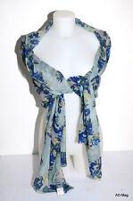 Vêtement Femme - étole / écharpe PALME 39179 Bleu imprimé floral - NEUF