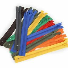 Lot Of 10 Nylon Zippers Assorted Color for Clothes Pants Bag Replacement