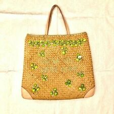 Kate Spade Straw Purse Straw bag dimensions 18x19 Light Brown Lots of room
