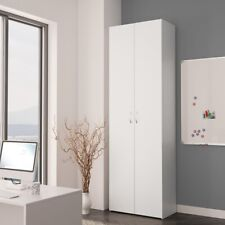 Tall Storage Pantry Kitchen Cabinet White Cupboard Office Bathroom Bedroom Unit