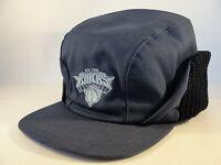 NBA New York Knicks Vintage Winter Earflap Hat Cap One Size Fits Most Navy