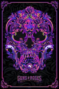 Anthony Petrie Guns N' Roses Flocked Variant Poster Screen Print LTD /100