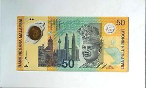 1998 MALAYSIA 50 Ringgit SUKOM NINET EIGHT BERHAD Commemorative(+1 note)#11854