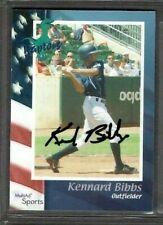2002 Multi-Ad Ogden Raptors #7 Kennard Bibbs Baseball Card Signed Autograph